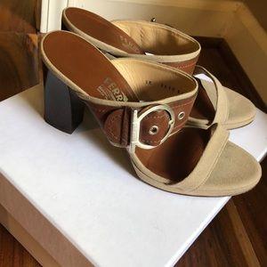 Ferragamo buckle sandal heel